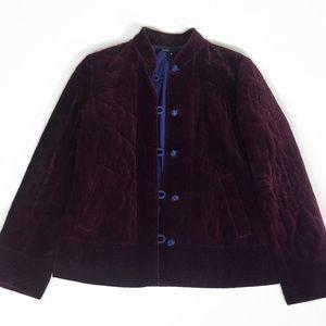 Marc jacobs soft velvet blazer embroidered coat